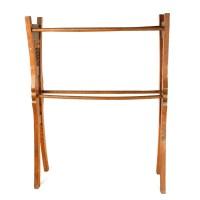 Vintage Carved Wooden Quilt Rack : EBTH