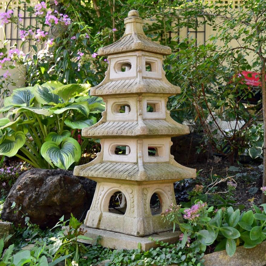 Concrete Pagoda Statue Ebth