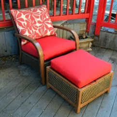 Resin Wicker Chair With Ottoman Papasan For Sale Agio Contemporary And Ebth