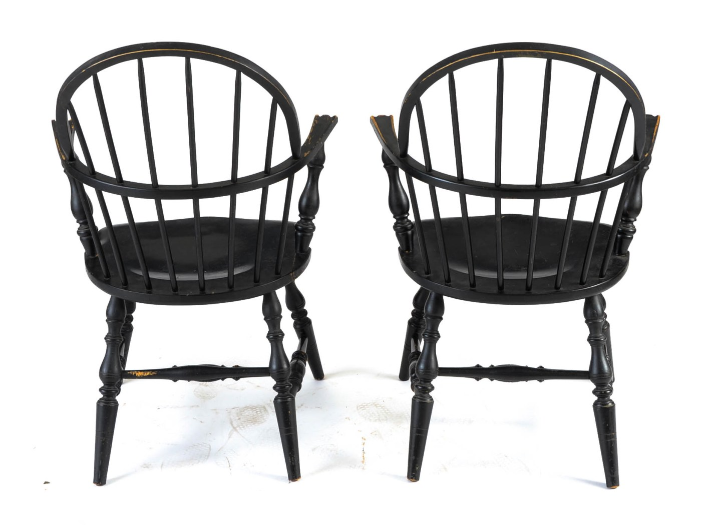 Black Windsor Chair Pair Of Antique Black Windsor Chairs Ebth