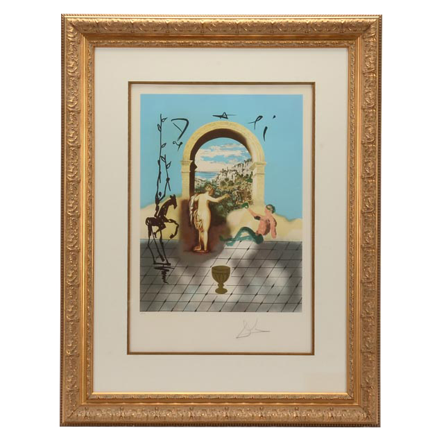 """Salvador Dal Signed Limited Edition Lithograph """"gateway"""