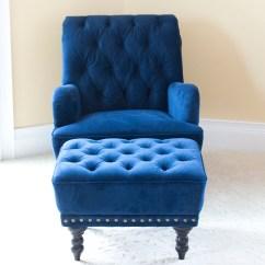 Olive Green Velvet Accent Chair Folding Kickstarter Chas Armchair Indigo Blue Floral