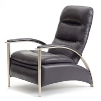 Ethan Allen Modern Style Leather Recliner : EBTH