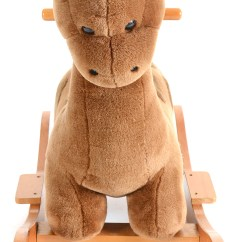 Pottery Barn Baby Rocking Chair Art Deco Club Chairs Leather Child 39s Kids Plush Dinosaur Rocker Ebth