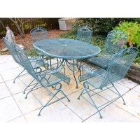 Wrought Iron Patio Table and Chairs : EBTH