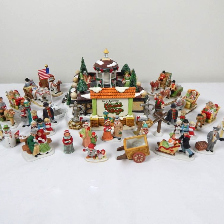 Lefton Colonial Village Figurines And Accessories Ebth