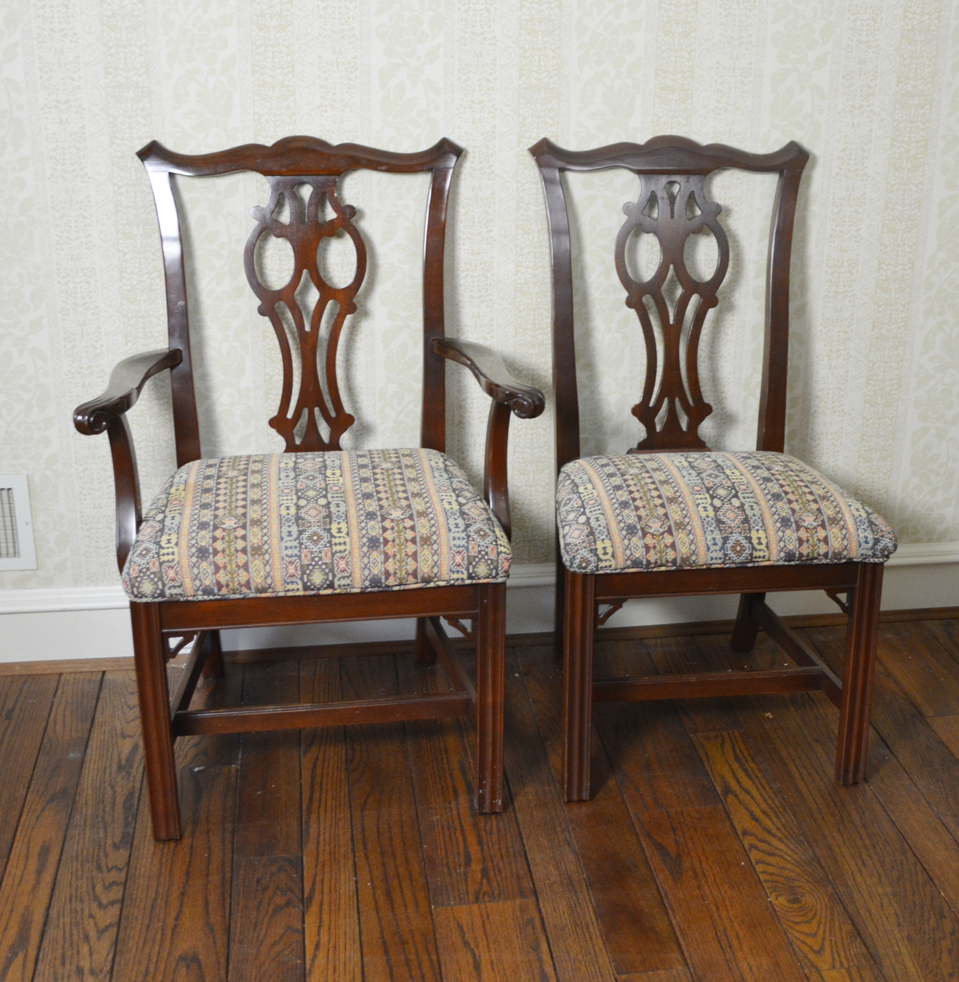 ethan allen dining room chairs white office chair ikea chippendale style ebth
