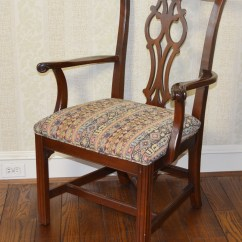 Ethan Allen Dining Room Chairs Ergonomic Chair Upper Back Pain Chippendale Style Ebth
