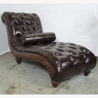 Newport Furniture Tufted Leather Chaise Lounge Chair : EBTH