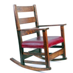Handmade Rocking Chairs Antique Wingback Chair For Child Ebth
