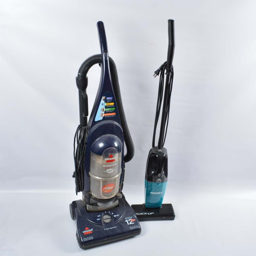Bissell Bagless Vacuum Cleaner And Eureka Quick- Ebth