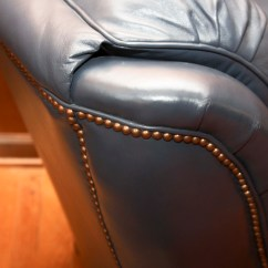 Navy Blue Leather Club Chair Cheap Cover Decorations And Ottoman Ebth