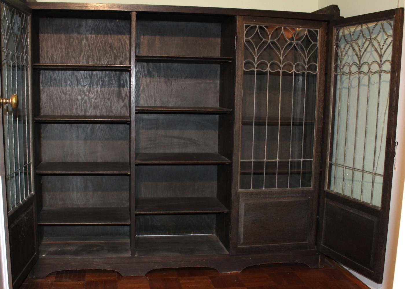 Antique Limbert Glass-Front Bookcase : EBTH