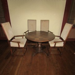 Round Card Table And Chairs Ikea Chair Cover Replacement Wood Or Game With Four Ebth