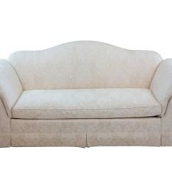 Baker Furniture Max Sofa Queen Size Memory Foam Sleeper Mattress White Upholstered Camelback By Ebth