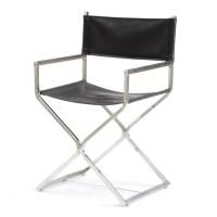 Mid-Century Style Chrome Director's Chair : EBTH