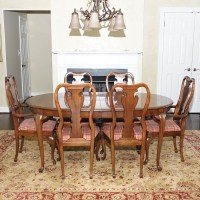 Mid-Century Broyhill Lenoir House Dining Room Table and ...