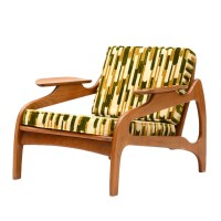 Founders Mid Century Modern Tufted Lounge Chair : EBTH