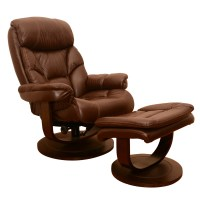 Leather Recliner Lounge Chair with Ottoman : EBTH