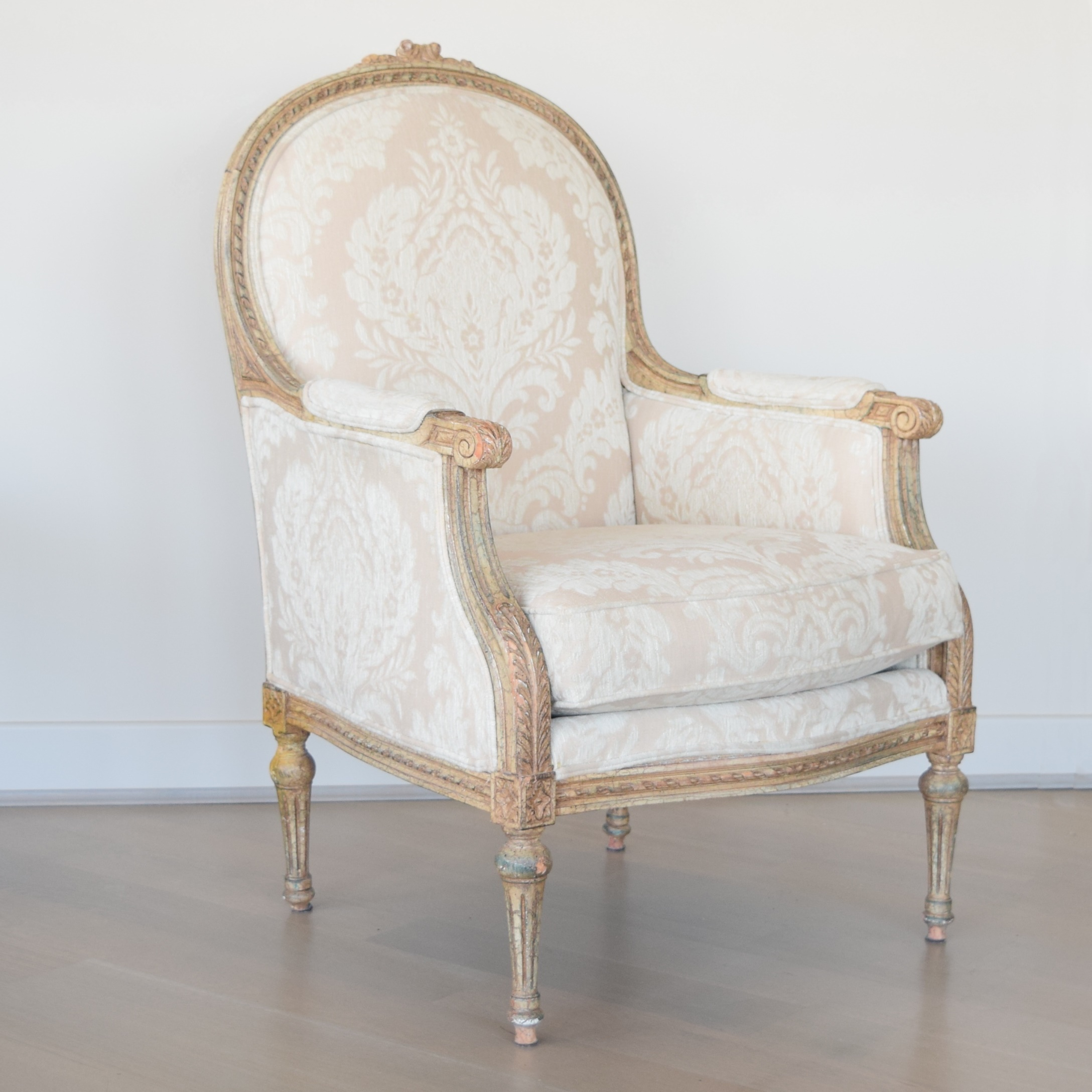 french bergere chair motel chairs for sale thomasville louis xvi style ebth