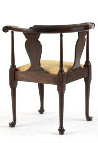 Mahogany Queen Anne Style Corner Chair by Henkel
