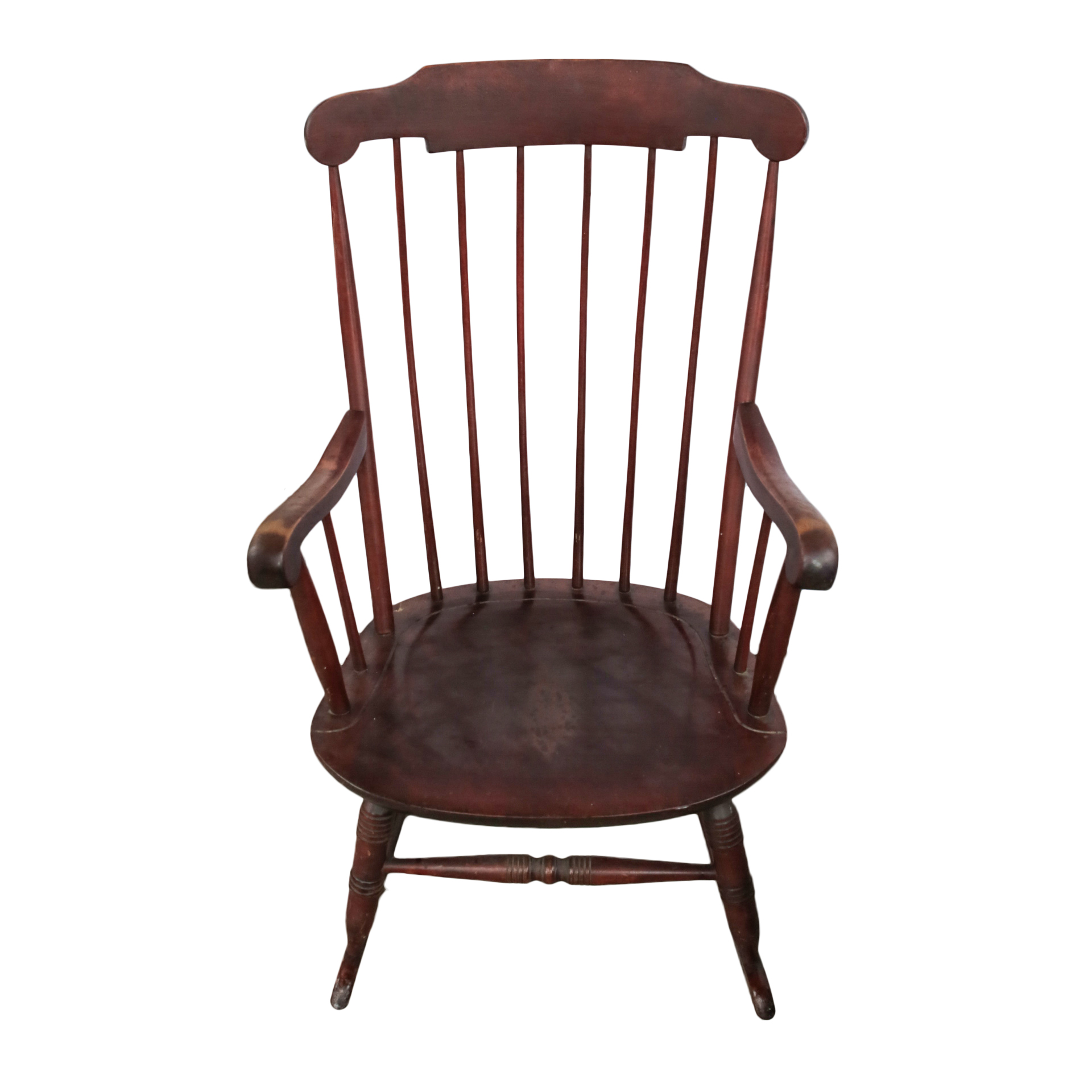 wood rocking chair styles antique wooden barber windsor style ebth