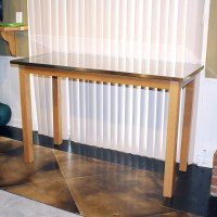 Stainless Steel Top Kitchen Table : EBTH