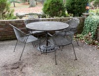 Metal Outdoor Patio Table and Chairs Set : EBTH