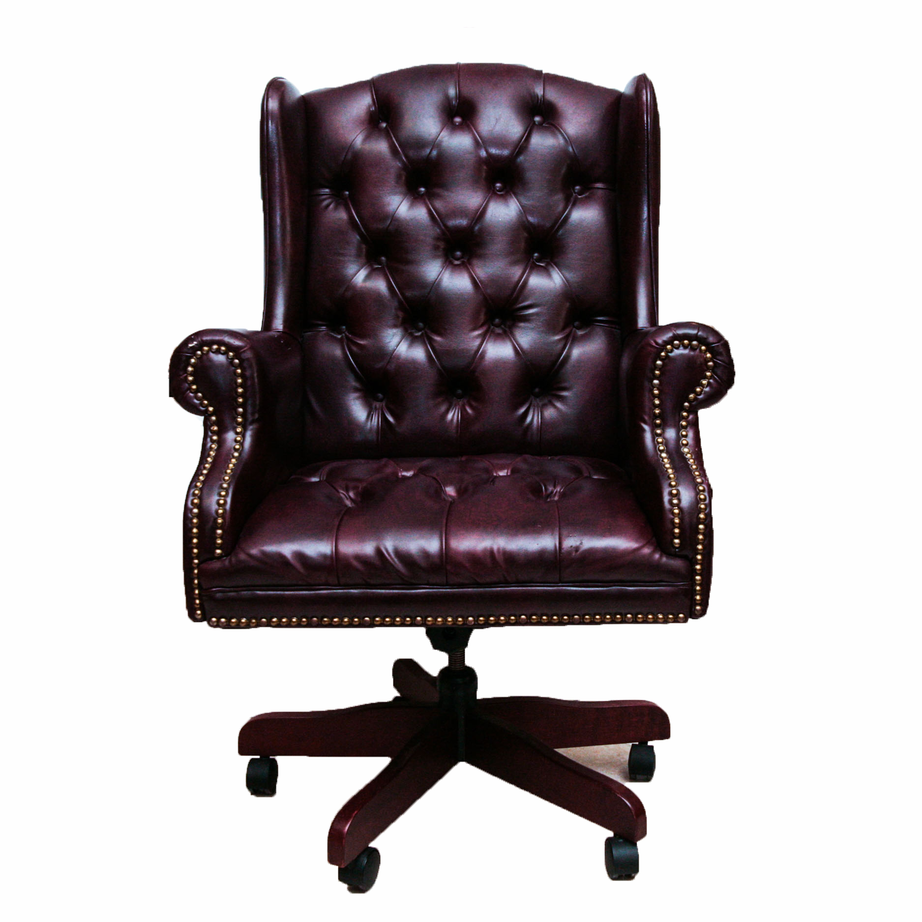 wingback office desk chair leather executive chairs canada faux ebth
