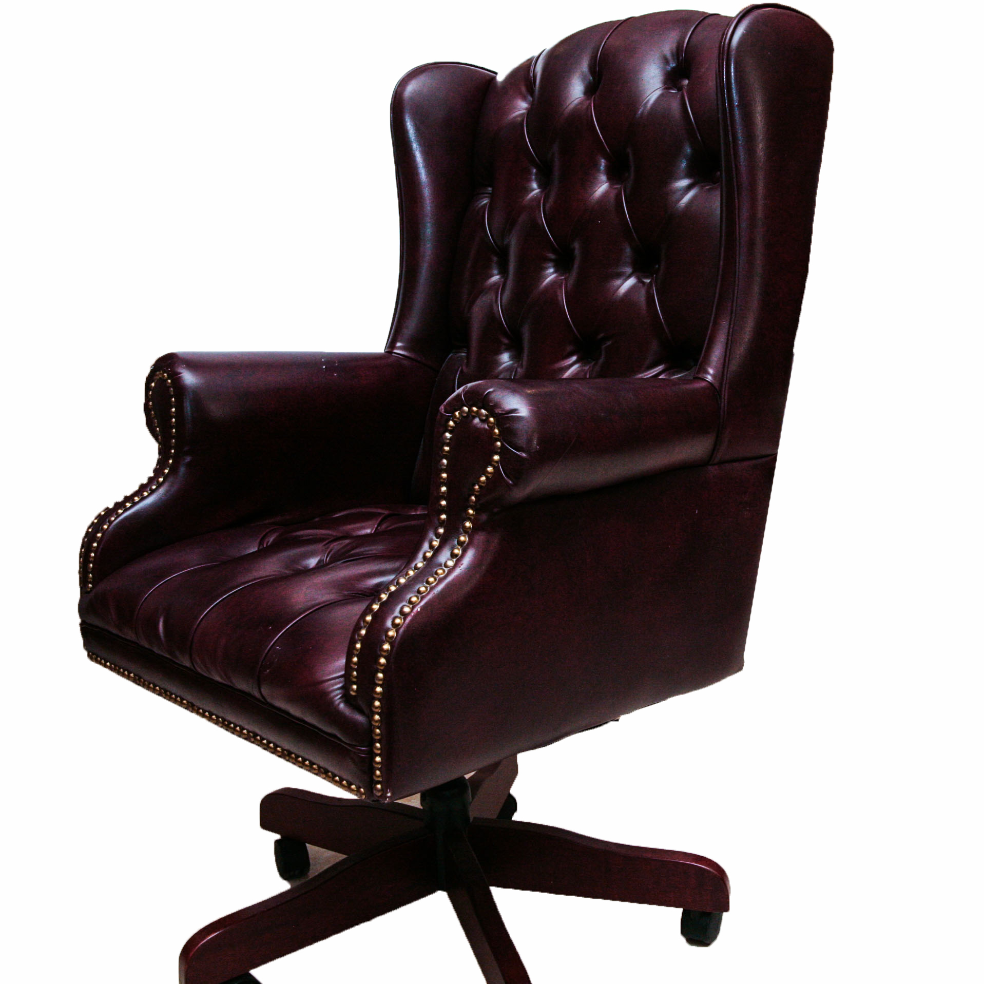 wingback office desk chair covers design faux leather ebth