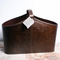Handmade Leather Magazine Holder : EBTH