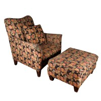 Colorful Contemporary Hickory Craft Upholstered Arm Chair ...