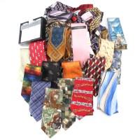 Assortment of Silk Ties and Handkerchiefs : EBTH