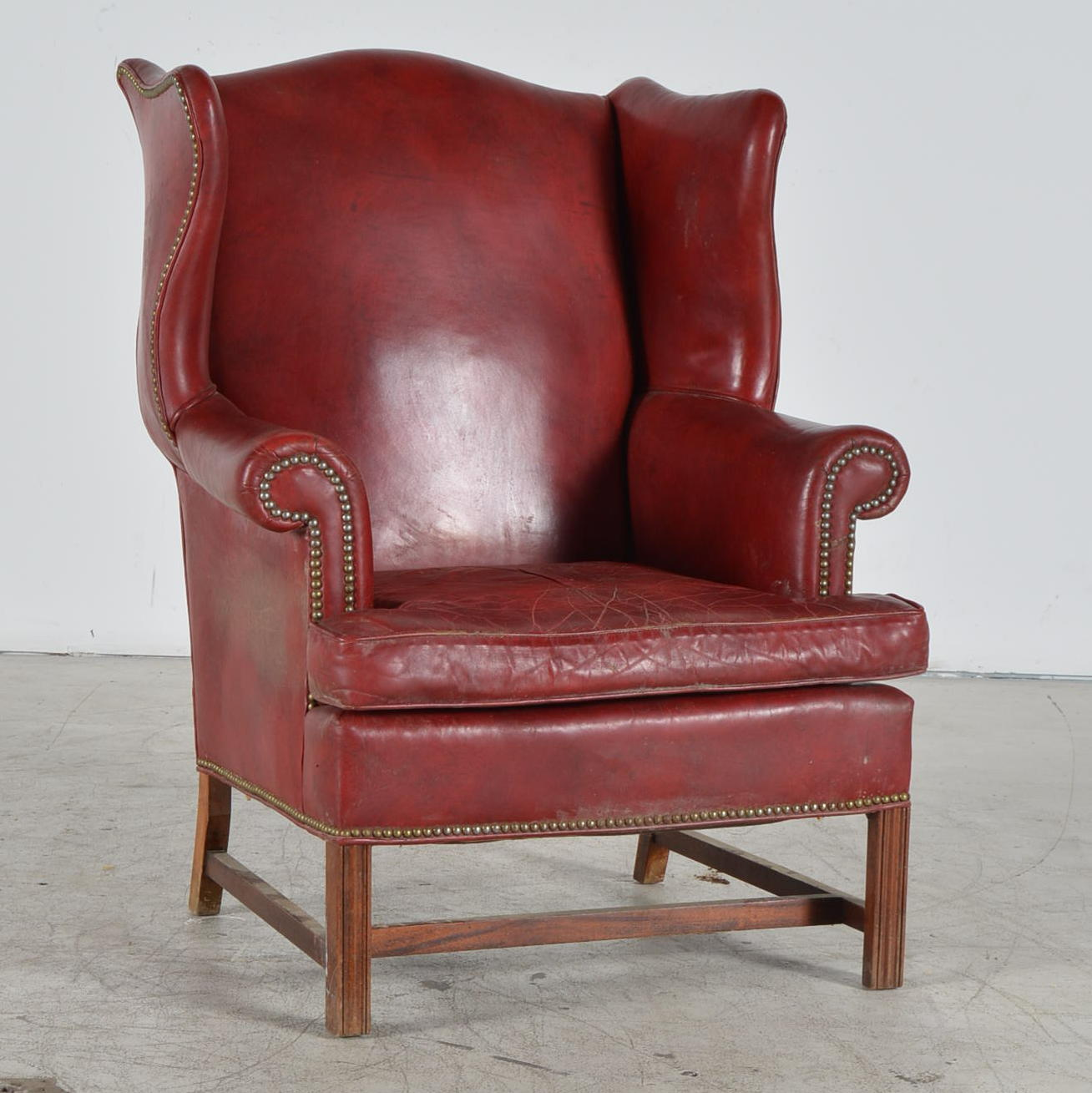 wingback rocking chair cape town tufted dining chairs sale old hickory tannery leather ebth