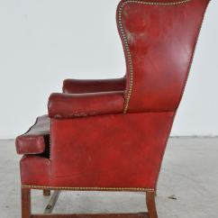 Wingback Rocking Chair Cape Town Orange Dining Chairs Old Hickory Tannery Leather Ebth