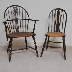 Antique Windsor Chairs Hammock Chair Frame With Rush Woven Seats Ebth