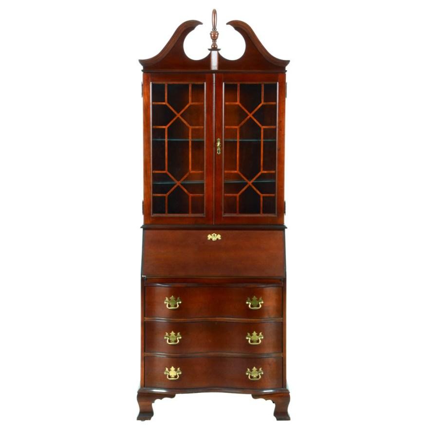 Jasper Cabinet Chippendale Style Secretary Desk  EBTH