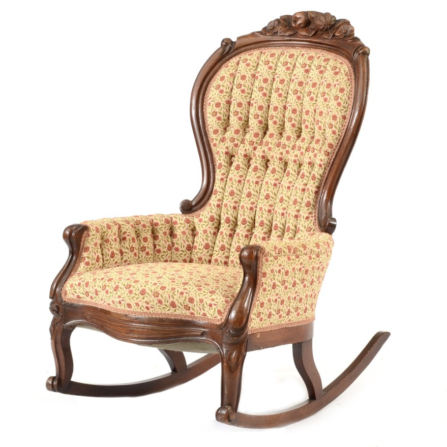 Victorian Style Tufted Rocking Chair  EBTH