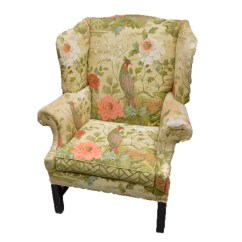 Floral Arm Chair Zero Gravity Folding Upholstered By Morganton Furniture Company Ebth