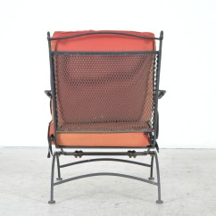 Black Metal Patio Chairs Wood Arm Ebth