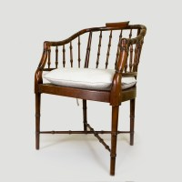 Mid-Century Faux Bamboo Chair : EBTH