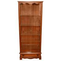 Maple Curio Cabinet with Glass Shelves : EBTH