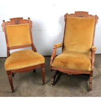 Two Antique Eastlake Chairs : EBTH