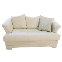 Tufted Off White Loveseat : EBTH