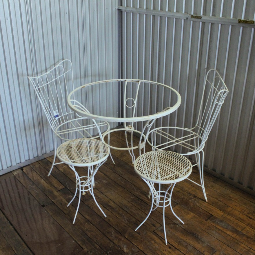 Vintage Wrought Iron Patio Furniture Ebth