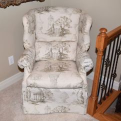 Country Style Wingback Chairs Chair Leg Covers Christmas Upholstered Isenhour French Ebth