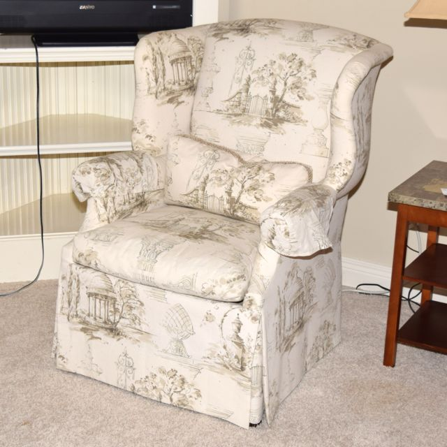 country style wingback chairs kohls outdoor upholstered isenhour french chair ebth