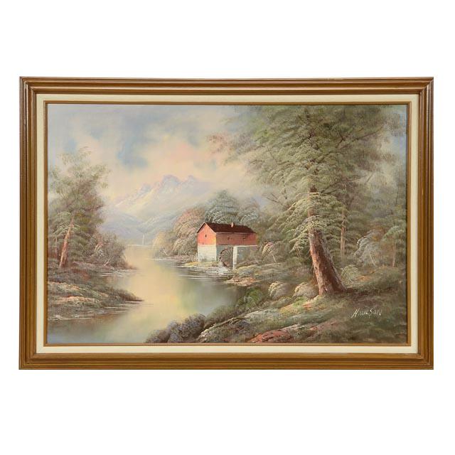 Wilson Original Oil Painting Canvas Ebth