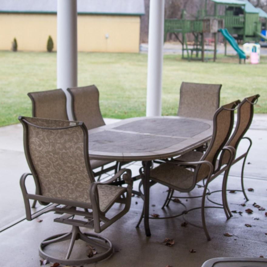 tropitone patio furniture set