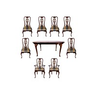 Contemporary Queen Anne Style Dining Table and Chairs : EBTH